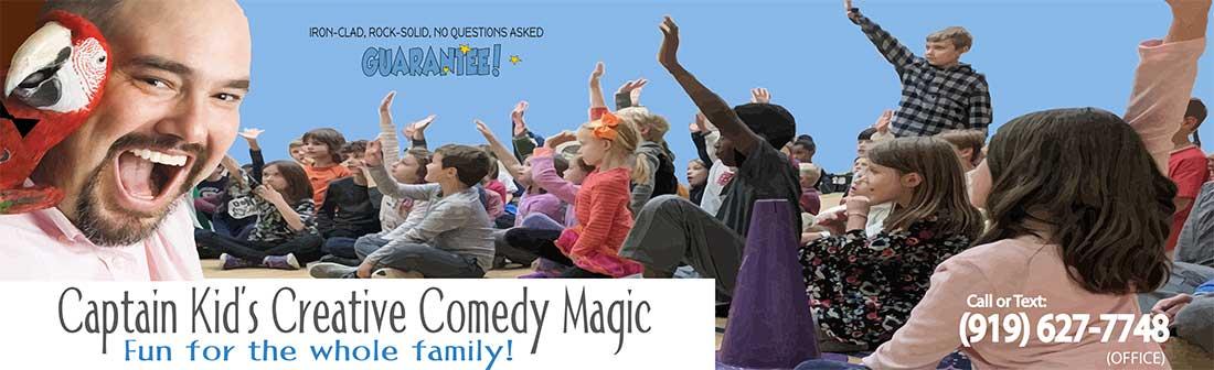Raleigh magician Birthday party magician